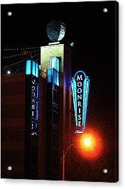 Moonrise Hotel Acrylic Print by David Blank