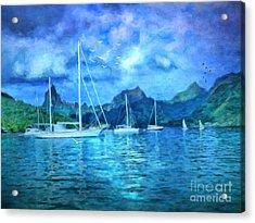 Moonrise In Mo'orea Acrylic Print