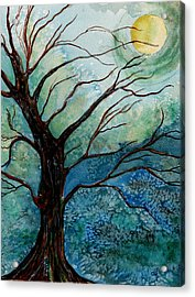 Moonrise In The Wild Night Acrylic Print