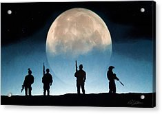 Moonrise Mission Acrylic Print by Peter Chilelli