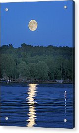 Reflections Of Luna Acrylic Print by Richard Engelbrecht