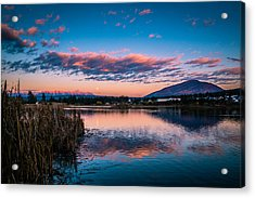 Acrylic Print featuring the photograph Moonrise Over Elizabeth Lake by Rob Tullis
