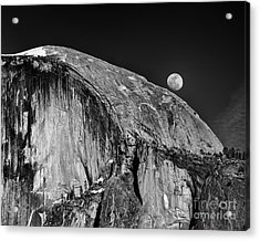 Moonrise Over Half Dome Acrylic Print