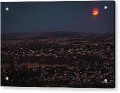 Moonrise Over Paso Acrylic Print