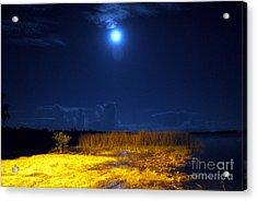 Moonrise Over Rochelle - Landscape Acrylic Print