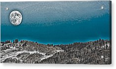 Acrylic Print featuring the photograph Moonrise Over The Mountain by Don Schwartz