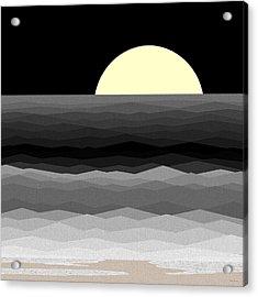 Moonrise Surf Acrylic Print