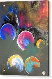 Moons Of Jupiter Acrylic Print by Thomas Petrizzo