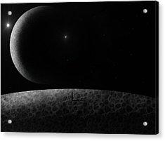 Moons Acrylic Print by Ricky Haug