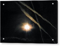 Moons Stars Jets And Something Else Acrylic Print by Christy Usilton