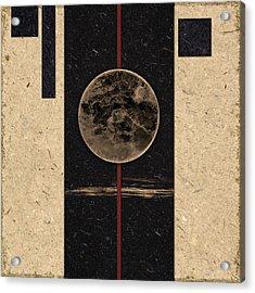 Moonset Acrylic Print by Carol Leigh
