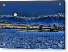 Moonset Over Cooney Acrylic Print