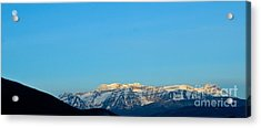 Moonset Over Timpanogos Acrylic Print