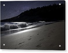 Acrylic Print featuring the photograph Moonshine Beach by Brent L Ander