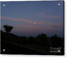 Moonshine In Cortona Acrylic Print