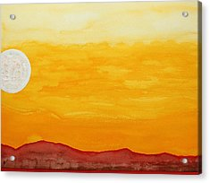 Moonshine Original Painting Sold Acrylic Print by Sol Luckman