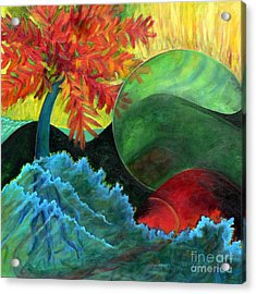 Acrylic Print featuring the painting Moonstorm by Elizabeth Fontaine-Barr