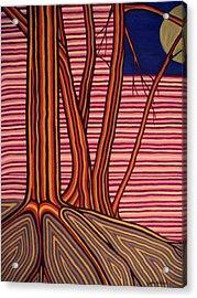 Moontree Acrylic Print by Cynthia Hilliard