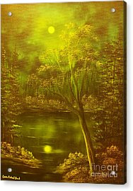 Moony Waters- Original Sold - Buy Giclee Print Nr 37 Of Limited Edition Of 40 Prints Mited Edprints  Acrylic Print