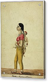 Moor Woman And Child Acrylic Print by British Library