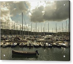 Moored Boats Acrylic Print by Winifred Butler