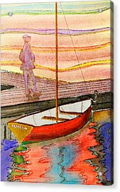 Moored Dinghy Acrylic Print