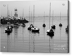 Moored Acrylic Print by Eunice Miller