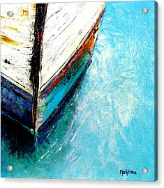 Moored Acrylic Print by Marti Green
