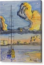 Moored Acrylic Print by Stan Tenney