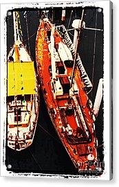 Moored Yachts Acrylic Print