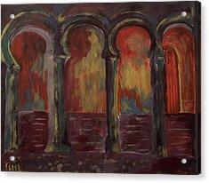 Moorish Arches II Acrylic Print by Oscar Penalber
