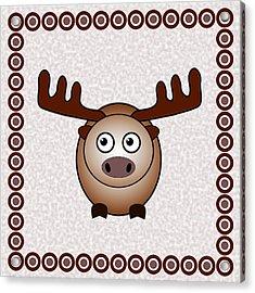 Moose - Animals - Art For Kids Acrylic Print by Anastasiya Malakhova