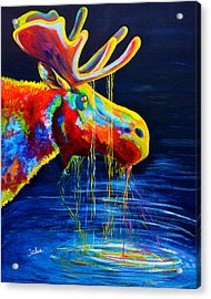Moose Drool Acrylic Print by Teshia Art