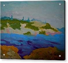 Acrylic Print featuring the painting Moose Island - Schoodic Peninsula by Francine Frank