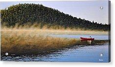 Moose Lake Paddle Acrylic Print