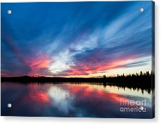 Moose Lake Sunset Acrylic Print