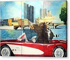 Moose Rapids Il Acrylic Print