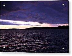Moosehead Lake Sunset Acrylic Print by Ryan Hord