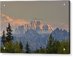 Moose's Tooth Acrylic Print by Kevin G Smith