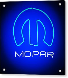 Acrylic Print featuring the photograph Mopar Neon Sign by Jill Reger
