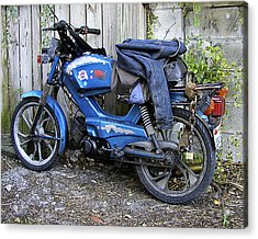 Moped Madness Acrylic Print by Steve Sperry
