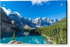 Moraine Lake At Banff National Park Acrylic Print by Panoramic Images