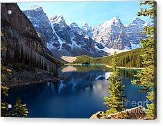 Moraine Lake Banff Alberta Acrylic Print