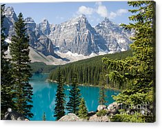 Acrylic Print featuring the photograph Moraine Lake by Chris Scroggins