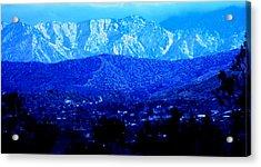 Morango Blues Acrylic Print by Carolina Liechtenstein