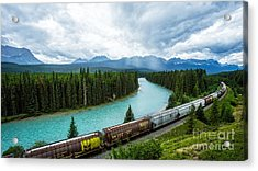 Morant's Curve Bow Valley Banff National Park Canada Acrylic Print