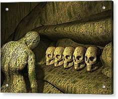 Acrylic Print featuring the digital art Morbid Vespers by John Alexander