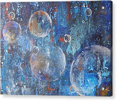 More Bubbles Acrylic Print by Nora Meyer