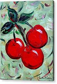 More Cherries Acrylic Print by Cynthia Hudson
