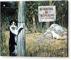 Acrylic Print featuring the painting More Civil Disobedience by Donna Tucker
